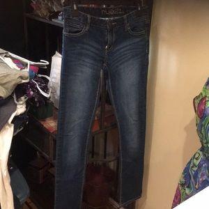 Women's tie 21 jeans size 5/6 dark denim euc